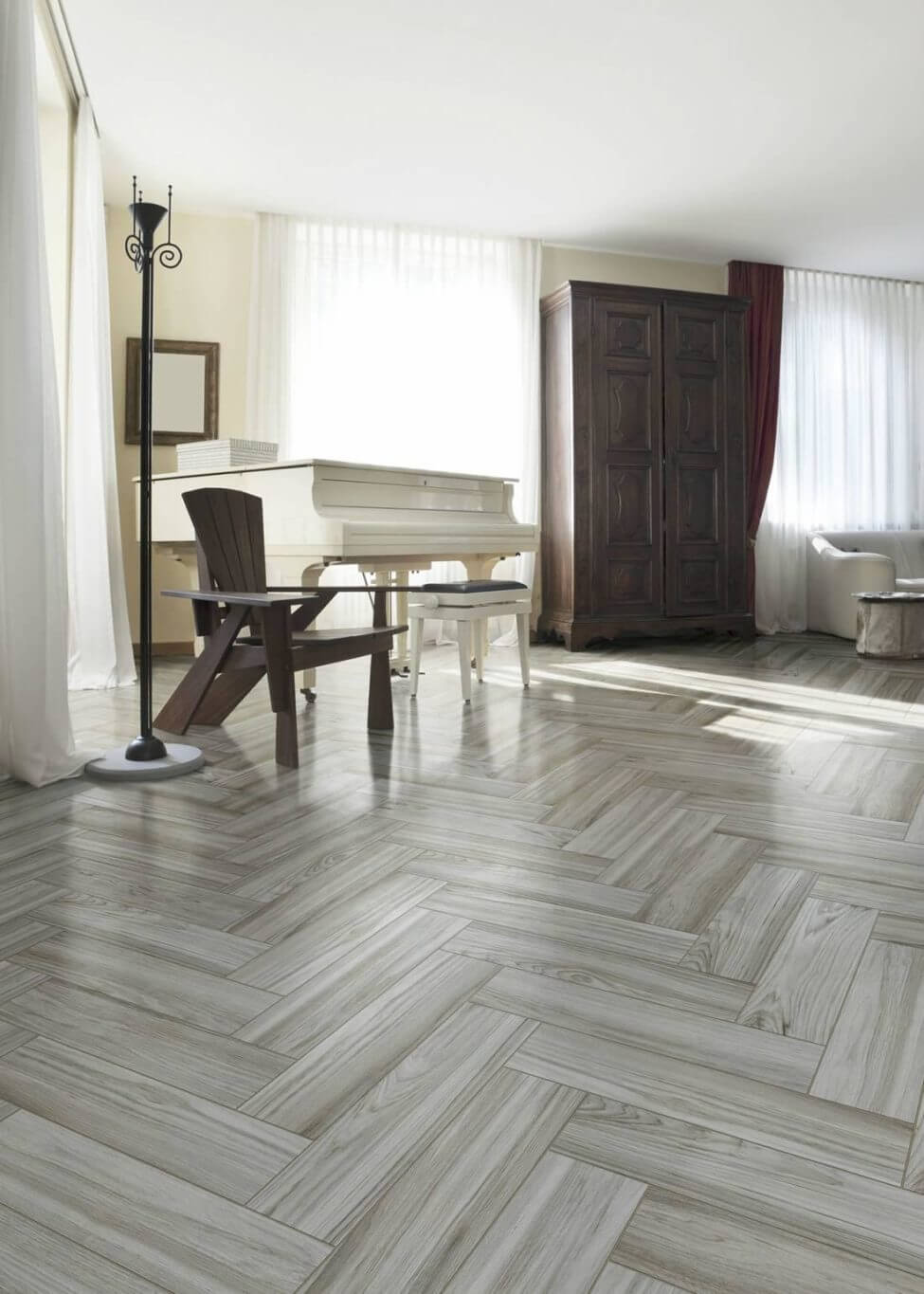 Herringbone Wood Look Tile Floor Why Tile