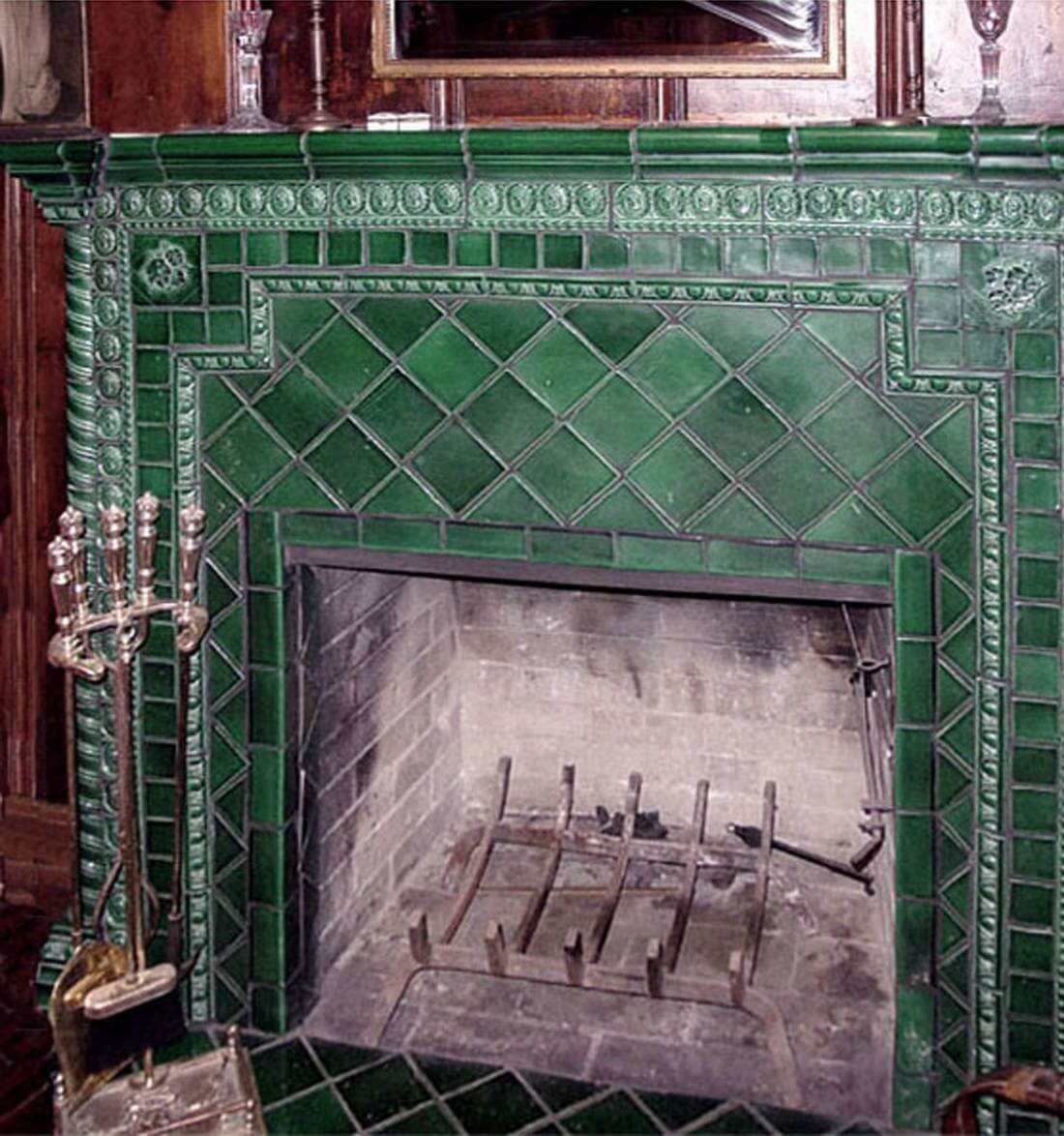 Toyota Dealership Colorado >> Green Ceramic Tile Fireplace | Why Tile