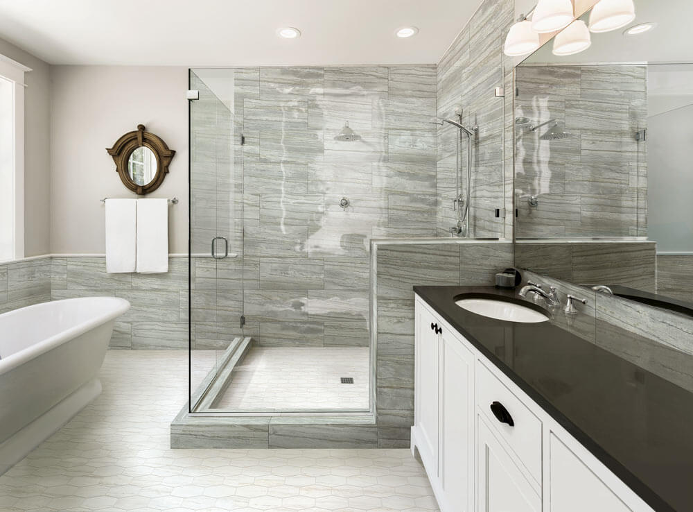 Silver Wood Look Tile Bathroom Why Tile