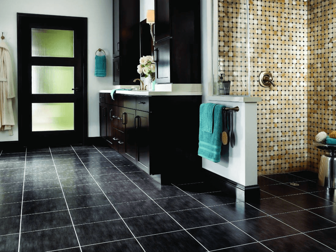 Octagon and dot ceramic tile shower wall