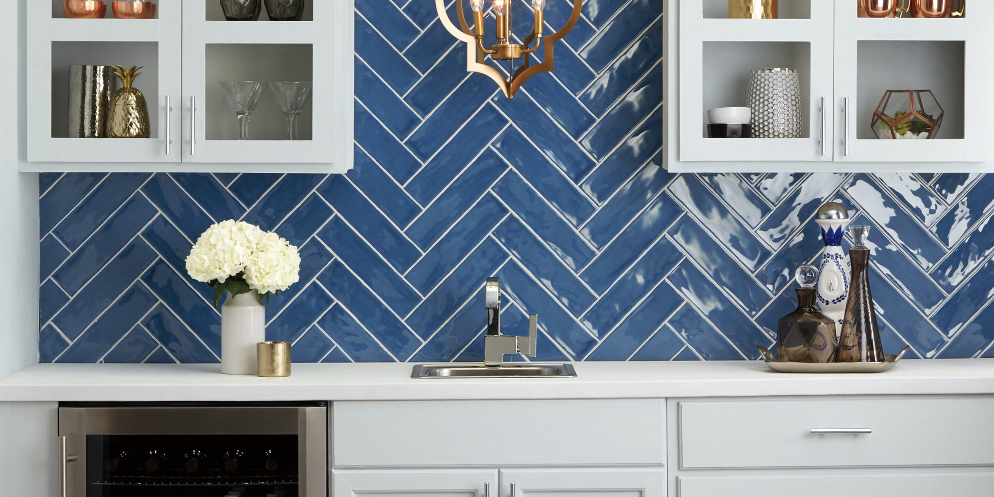 Tile Trends We Love Blue Backsplash
